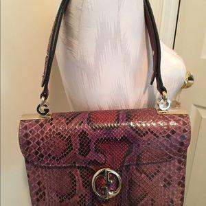 Gucci Handbag python authentic new